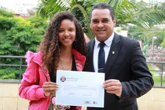 Luana Rayane Dias acompanhou os vereadores Reinaldo Lacerda e Neidson Freitas (2)