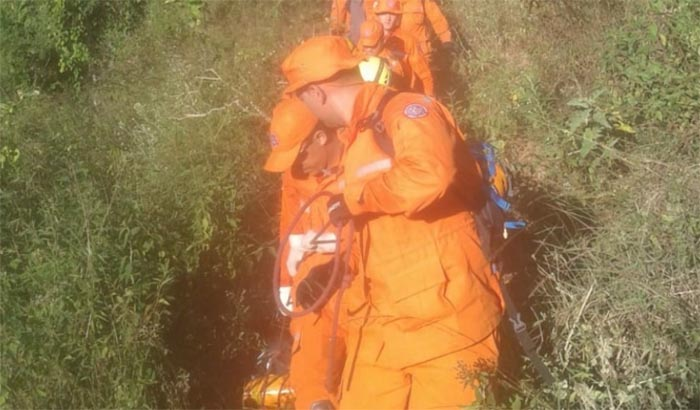 Bombeiros encontram corpo de homem que estava desaparecido na zona rural de Ferros