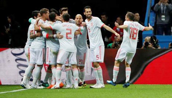 Resultado de imagem para Espanha tem dificuldades contra o Irã, mas vence por 1 a 0
