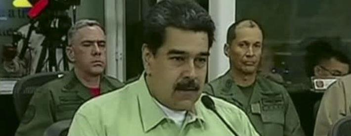 Maduro anuncia fechamento da fronteira com o Brasil a partir das 20h
