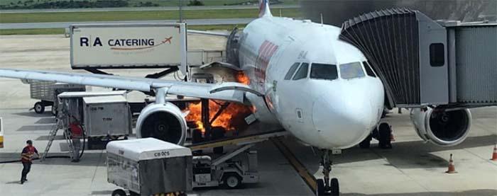 Avião da Latam tem princípio de incêndio após pousar no Aeroporto de Confins
