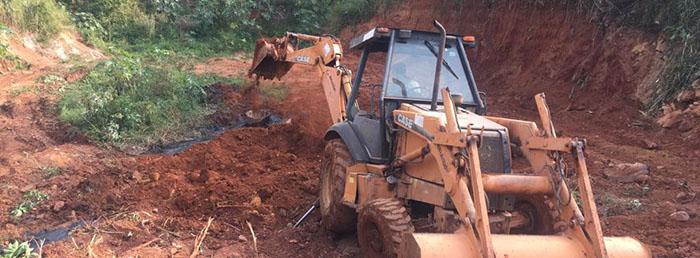 Prefeitura realiza obras para problema de vazamento de esgoto no bairro João XXIII