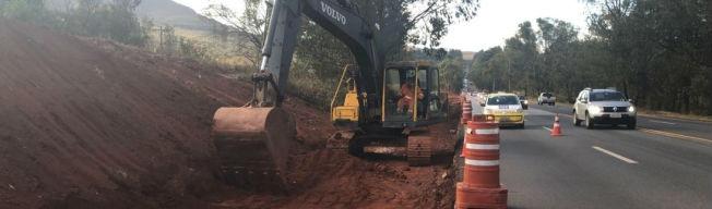 Obras interditam parcialmente 28 trechos da BR-040 nesta semana; confira os locais