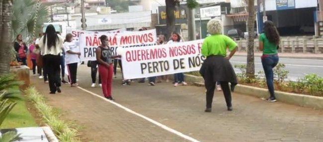 Protesto da família dos presos