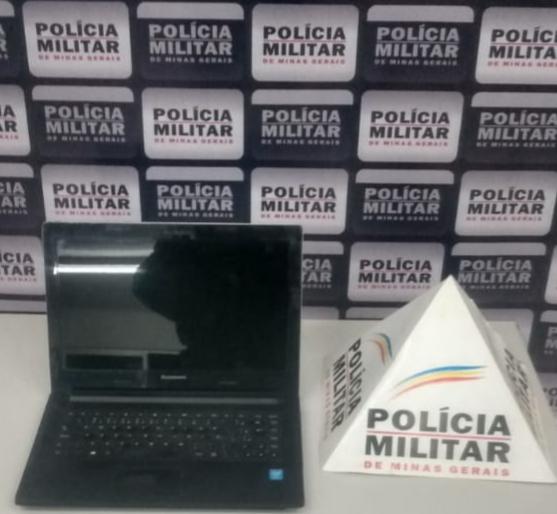 ITABIRA – Polícia Militar recupera notbook furtado e prende um suspeito